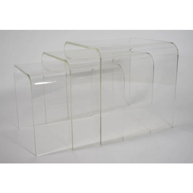 Set of Three Lucite Nesting Tables - Image 4 of 7