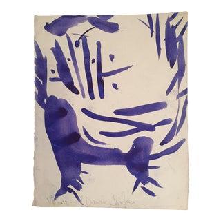 """Vintage Original Robert Cooke """"Dancing Chicken"""" Drawing"""