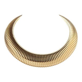 Joan Rivers Ribbed Goldtone Collar