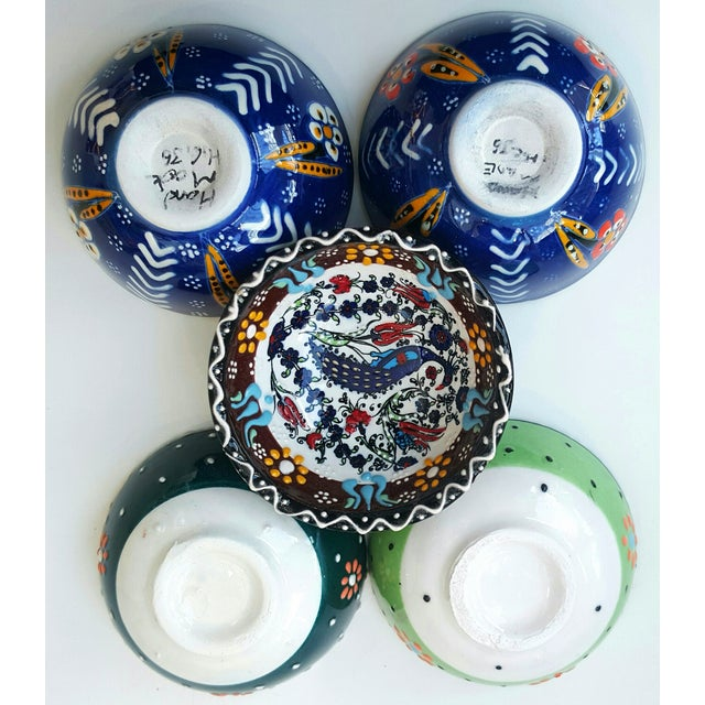 Handmade Turkish Tile Bowls - Set of 5 - Image 4 of 4