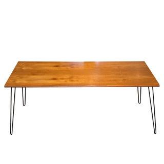 Vintage Hairpin Legs Oak Dining Table
