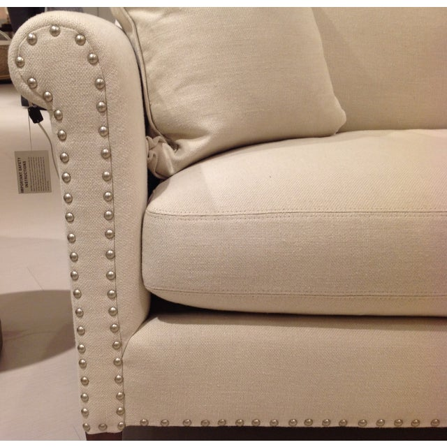 Image of Lillian August Paris Linen Sofa