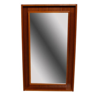 Danish Modern Pederson & Hansen, Denmark Teak Lighted Mirror