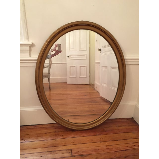 Image of Large Oval Giltwood Mirror