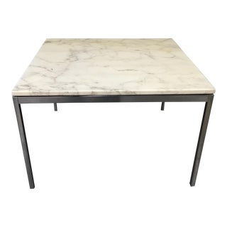 Florence Knoll Marble Top Cocktail Table