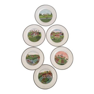 Villeroy & Boch Luxembourg Decorative Bread/Dessert Plates - Set of 6