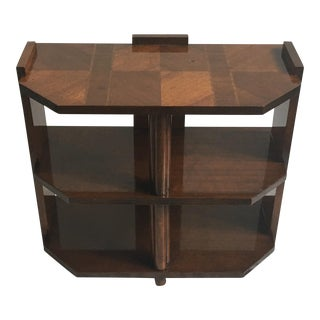 Art Deco Checkered Side Table
