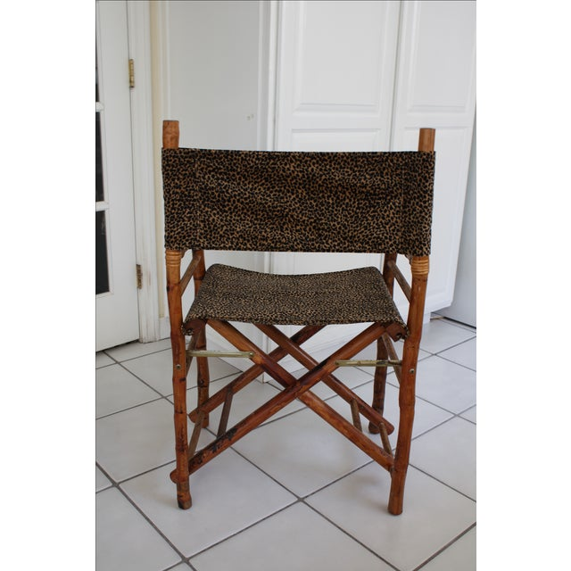 Leopard Print Amp Faux Bamboo Director S Chair Chairish