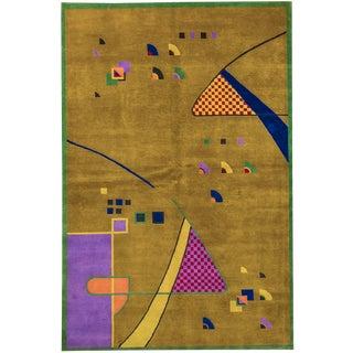 Contemporary Tibetan Hand Woven Rug - 6′5″ × 9′5″
