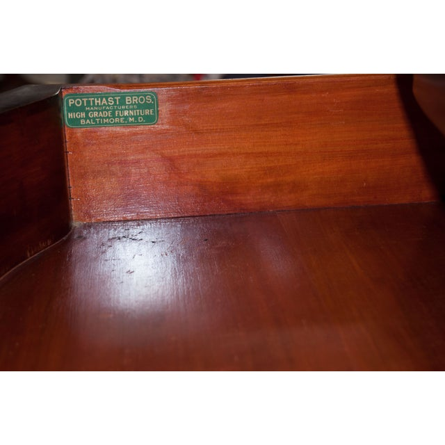 Image of mahogany Federal style table by Potthast