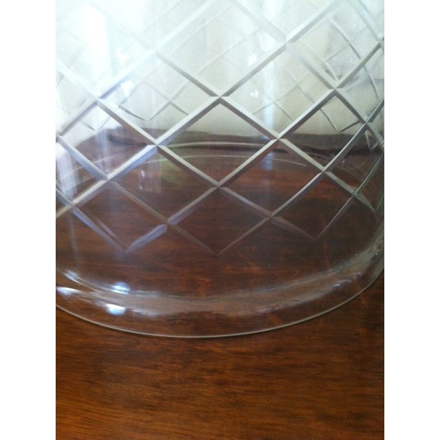 Image of Cut Glass Etched Cloches - A Pair