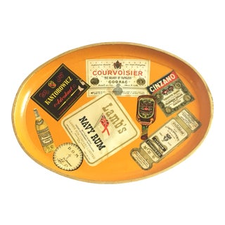 Vintage Booze Label Tray