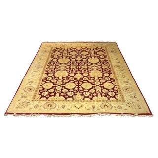 Indian Manasa Tea Dyed Wool Rug - 5′12″ × 9′3″