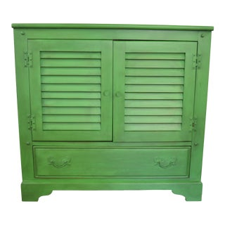 Green Wooden Cabinet or Side Table