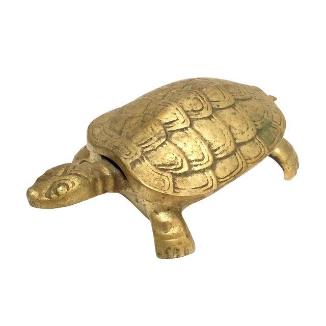 Antique Lidded Brass Turtle Trinket Box - Image 1 of 11