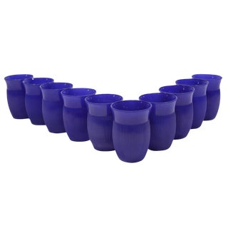 Glasses in Cobalt Blue - Set of 10