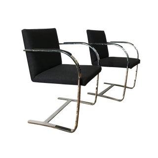 Brno Flatbar Chairs Mies Van Der Rohe - Pair