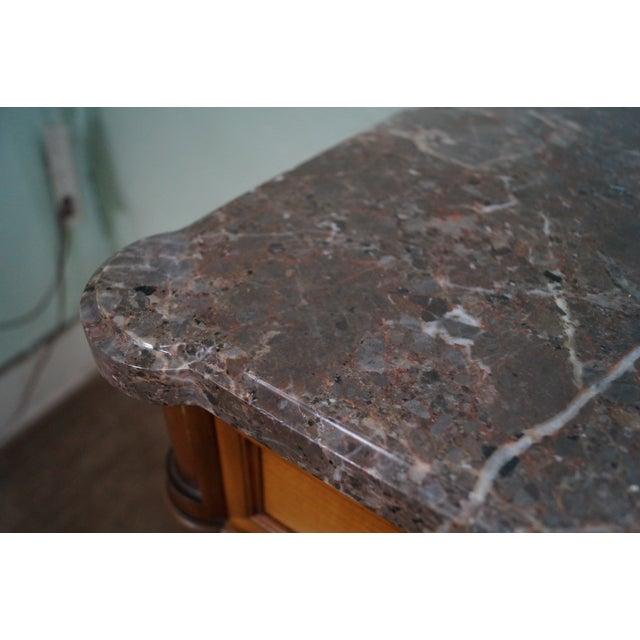 Image of Vintage French Louis XVI Marble Top Sideboard
