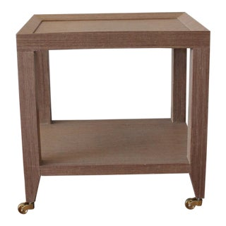 Bungalow 5 Lacquered Grasscloth Tea Table