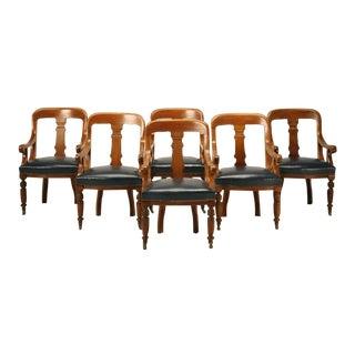 English Regency Mahogany Board Room Chairs