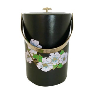 Couroc Black Blossom Ice Bucket