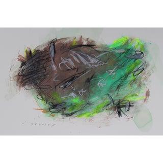 Marrone E Verde Mixed Media Painting