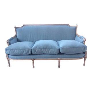 Vintage French Louis XVI Style Down Cushion Sofa