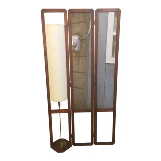Mid Century Room Divider and Lamp