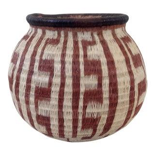 Geometric-Style Woven Wounaan Basket
