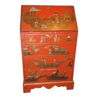 Asian Orange Secretary Desk