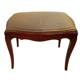Vintage John Widdicomb French Style Walnut Bench