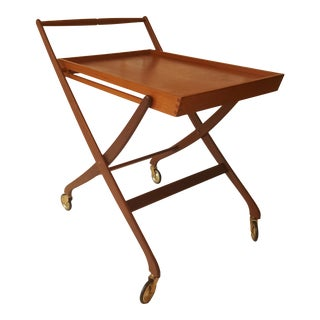 Mid-Century Danish Teak Folding Bar Cart