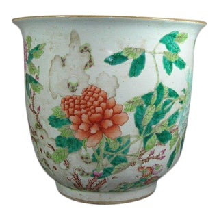 Antique Chinese Famille-Rose Porcelain Planter