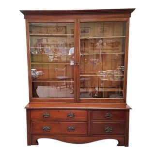 1900 Antique Victorian Large Mahogany Bookcase