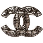 Image of Chanel Gunmetal Textured Brooch