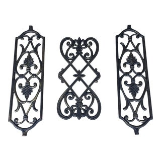 3 Mid-Century Modern Architectural Iron Accent Pieces