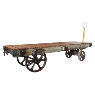 Industrial Vintage Factory Cart Coffee Table
