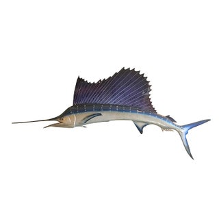 1960s Huge Sailfish Mount, Retro Mid Century Decor