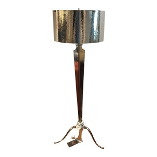 Hammered Nickel Floor Lamp