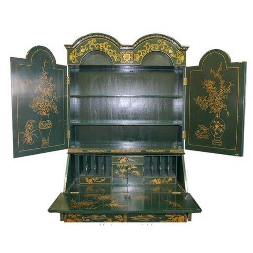 Vintage Chinoiserie Chippendale Secretary - Image 3 of 11