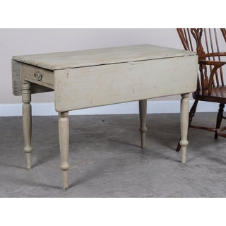 Antique English Painted Drop Leaf Table circa 1875