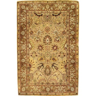 """Pasargad Indo Tabriz Hand Knotted Wool Pile Area Rug - 3'2"""" X 4'11''"""