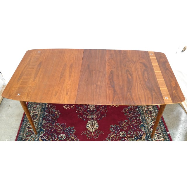 Refinished Vintage Mid Century Modern Dining Table - Image 7 of 7