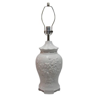 Asian Style White Ceramic Table Lamp