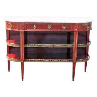 Jansen Marble Top Louis XV Style Dessert Table