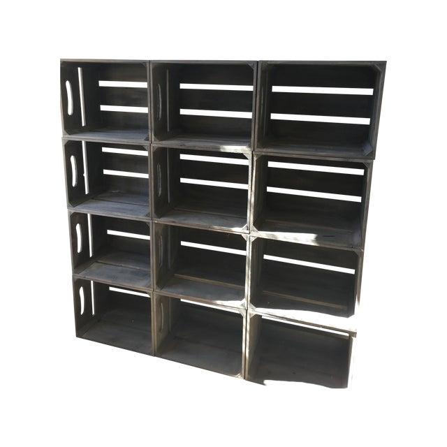 Rustic Crate Shelving - Image 1 of 4