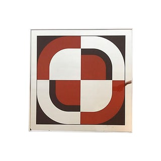 1970s Vintage Turner Op Art Mirror