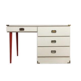 Vintage White Campaign Desk