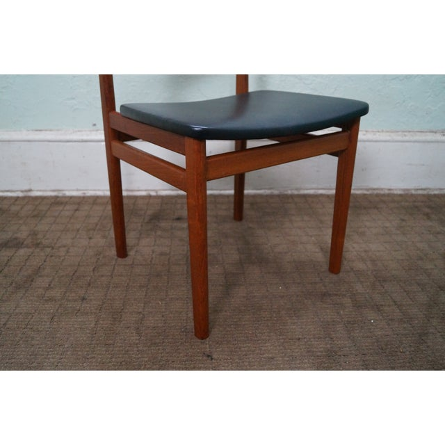 vintage danish modern teak side chair chairish