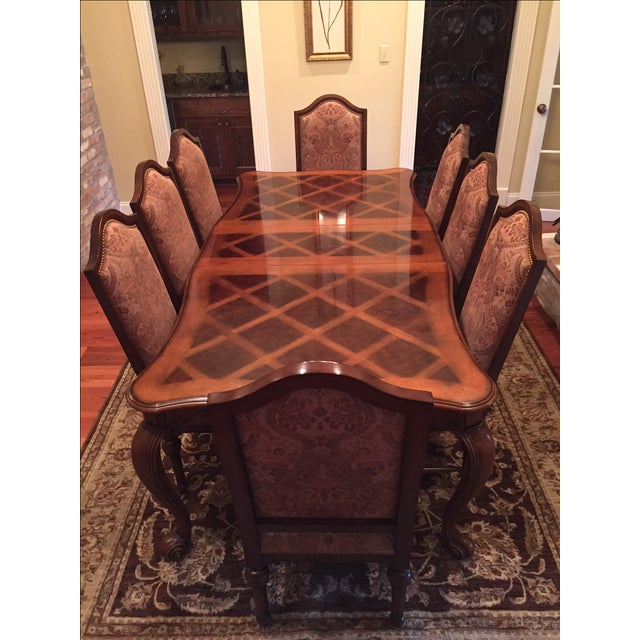 Formal Dining Room Set - Table with 8 Chairs - Image 8 of 9